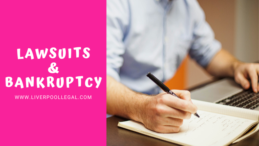 does filing bankruptcy stop a lawsuit